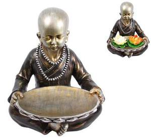 Silver Monk with Bowl