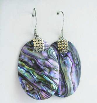 NZ Paua Oval Earrings