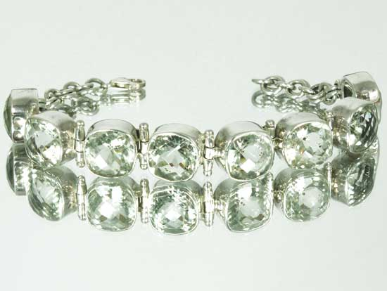 Green Amethyst Bracelet Faceted