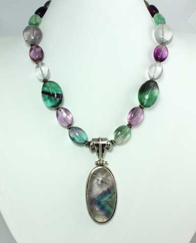 Fluorite Necklace - Healers Necklace