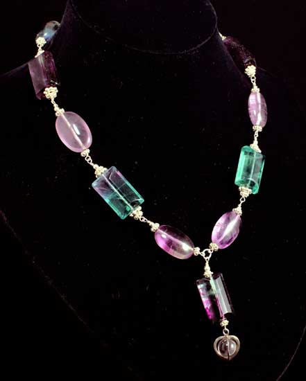 Fluorite Faceted Necklace - Divine Intervention Necklace