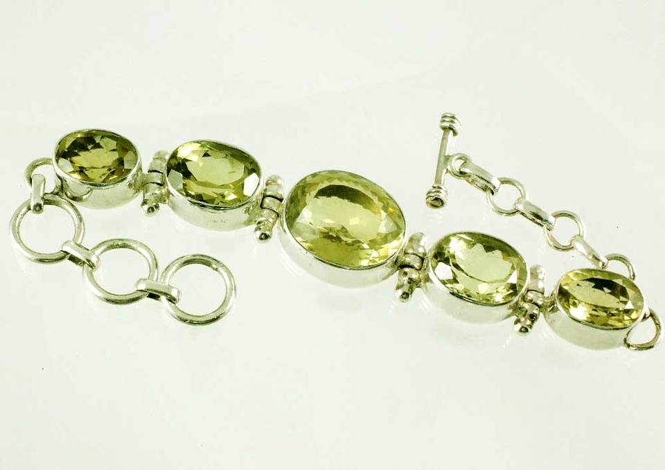 Lemon Topaz Bracelet Faceted