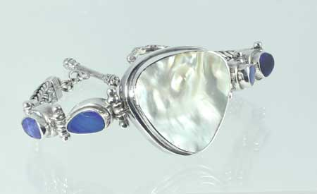 Mother Of Pearl & Blue Opal Bracelet