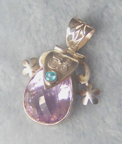 Amethyst and Blue Topaz Pendant