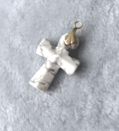 Howlite Cross Pendant