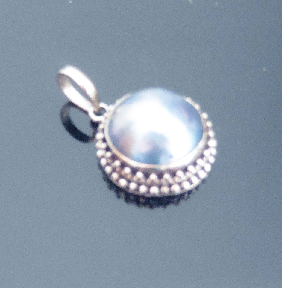 Blue Mabe Pearl Pendant