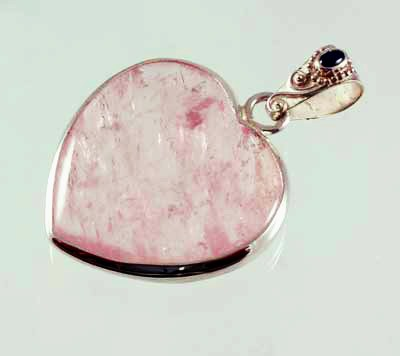 Rose Quartz Pendant Faceted