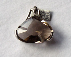 Smokey Quartz & Clear Zircon Pendant